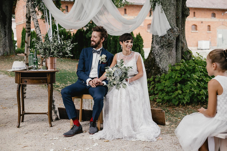 Boho Hochzeit Zeremonie bei Magical Homes